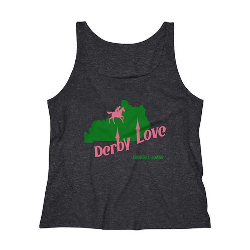 DerbyLove Churchill Downs Women's Fitness Workout Tank Top Jersey
