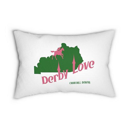 DerbyLove Churchill Downs Lumbar Zipper Pillow Indoor Water Resistant Cushion