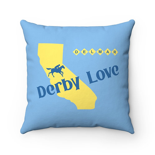 DerbyLove Delmar Spun Polyester Square Pillow Comfy Cushion