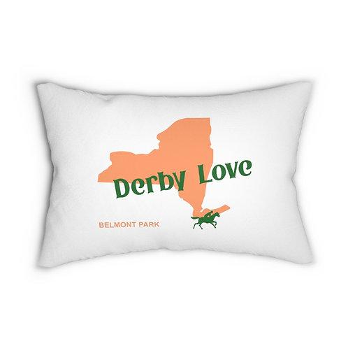DerbyLove Belmont Park Lumbar Zipper Pillow Indoor Water Resistant Cushion