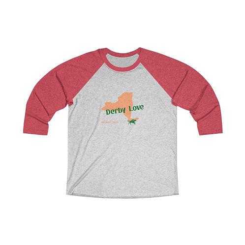 DerbyLove Belmont Park Long Sleeve Unisex Tri-Blend Raglan Tee Streetwear
