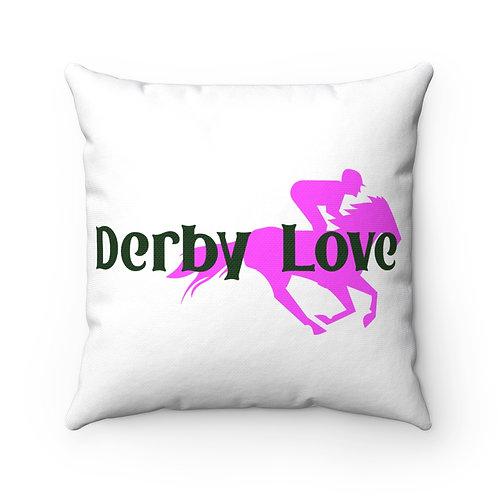 DerbyLove Spun Polyester Square Pillow Zipper Indoor Cushion