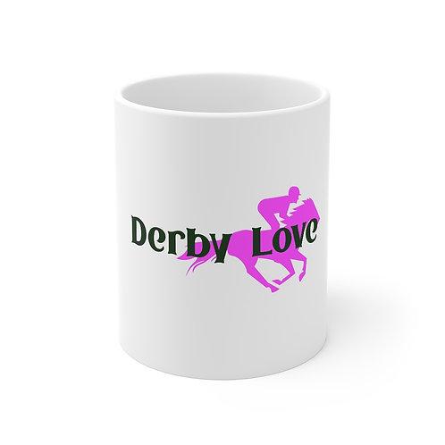 DerbyLove Ceramic White Mug Drinkware Coffee Tea Cup