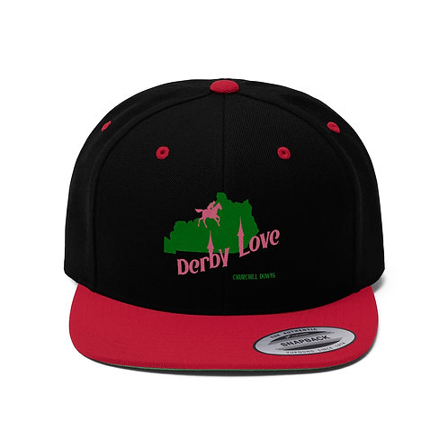 DerbyLove Churchill Downs Unisex Flat Bill Hat Fitted Snapback Hip-hop Hat