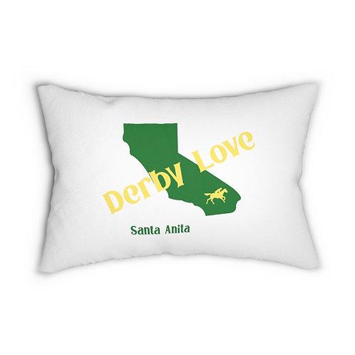 DerbyLove Santa Anita Zipper Pillow Indoor Water Resistant Cushion