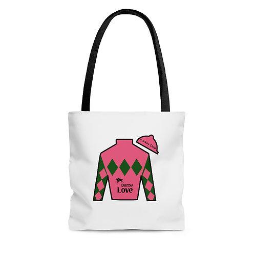 DerbyLove Jockey Club Tote Shoulder Hand Bag Shoppers Bag