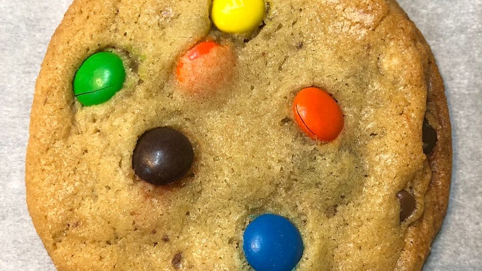 """Like Candy"" - Chocolate Chip cookie with M&M candies"