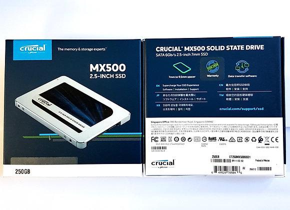 "Crucial 2.5"" SSD MX500 250GB-2TB"