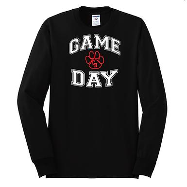 Ladies Game Day Black Long Sleeved Shirt