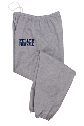 KELLER FOOTBALL- GRAY SWEATPANTS
