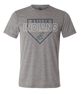 KHS BASEBALL- HOME PLATE TEE- GRAY
