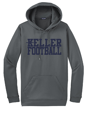 KELLER FOOTBALL- GRAY HOODY- DRY-FIT
