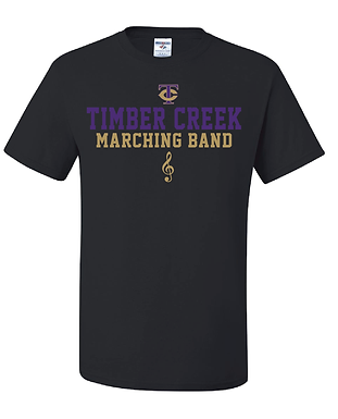 TCHS BAND LINES BLACK TEE