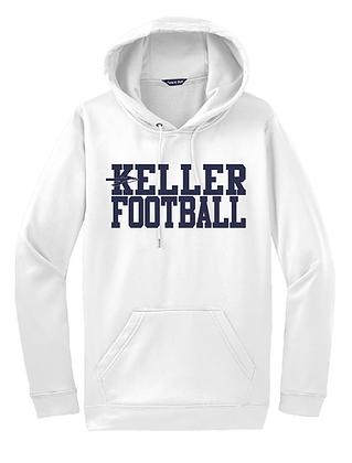 KELLER FOOTBALL- WHITE HOODY- DRY-FIT