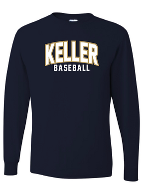 KHS BASEBALL- CLASSIC TEE- LONG SLEEVE- NAVY