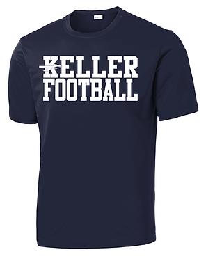 KELLER FOOTBALL- NAVY DRY-FIT