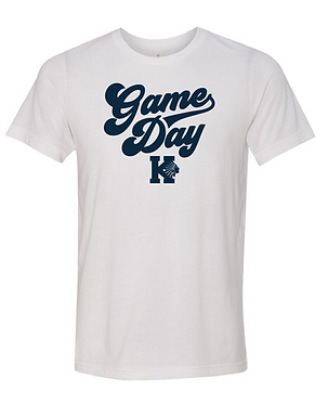 KHS BASEBALL- GAME DAY TEE- WHITE