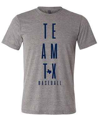 TEAM TEXAS VERTICAL TEE- GRAY
