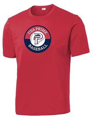 USA PRIME- CIRCLE TEE- RED