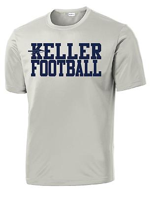 KELLER FOOTBALL- GRAY DRY-FIT