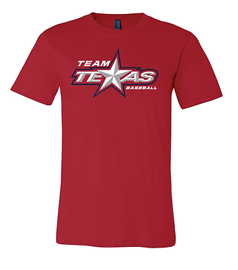 TEAM TEXAS STAR TEE- RED