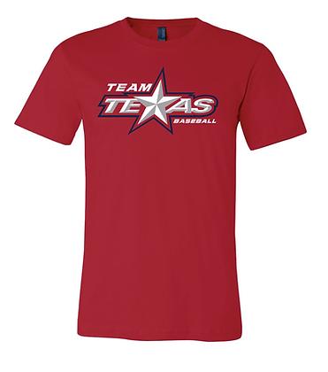 TEAM TEXAS STAR TEE- RED