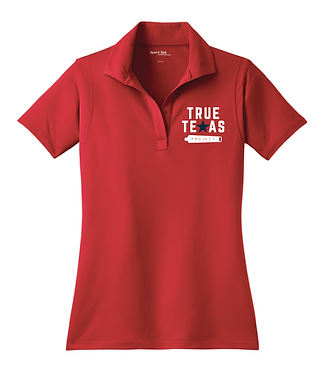 TTP: LADIES POLO- RED