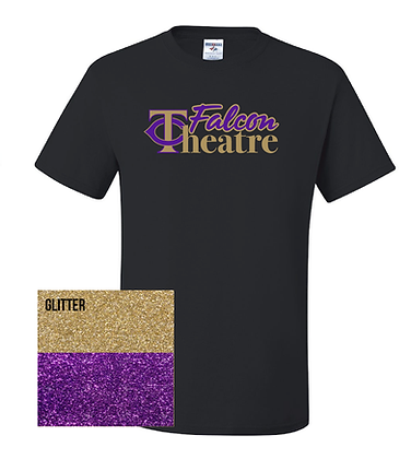 TCHS THEATRE GLITTER SHIRT- BLACK