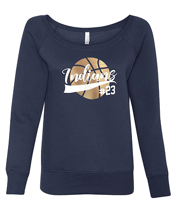 KB Ladies Off-Shoulder Light Sweatshirt