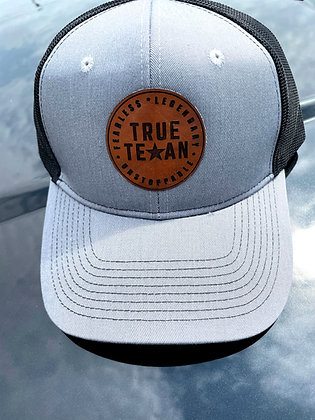 TTP: LEATHER PATCH HAT- GRAY/BLACK