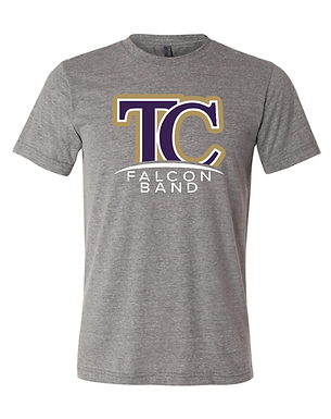 TCHS BAND- FULL LOGO- GRAY TEE