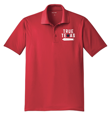 TTP: MEN'S POLO- RED