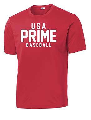 USA PRIME- CLASSIC TEE- RED
