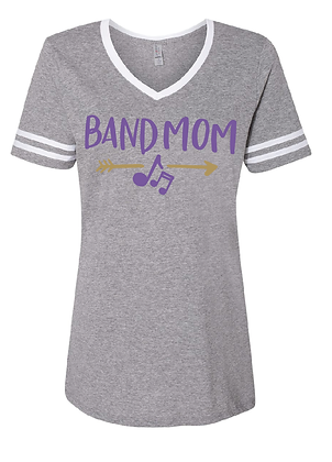 TCHS BAND MOM GRAY STRIPED