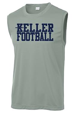 KELLER FOOTBALL- GRAY SLEEVELESS DRY-FIT