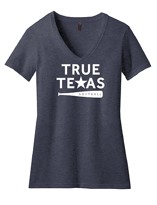 TRUE TEXAS SOFTBALL- WOMEN'S V-NECK