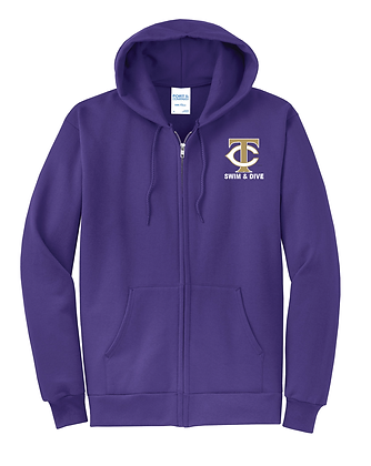TCHS SWIM PURPLE FULL ZIP HOODY