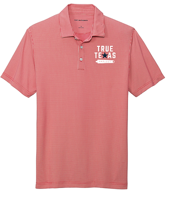 TTP: MEN'S GINGHAM PLAID POLO- RED