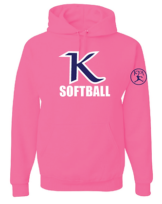 KYA SOFTBALL HOODY- COTTON- PINK