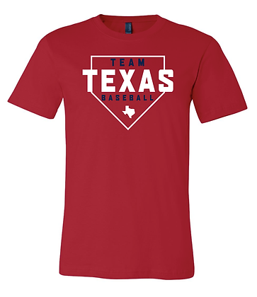 TEAM TEXAS HOME PLATE TEE - RED