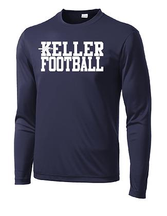 KELLER FOOTBALL- NAVY LONG DRY-FIT