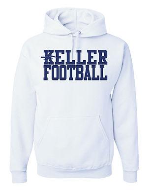 KELLER FOOTBALL- WHITE HOODY