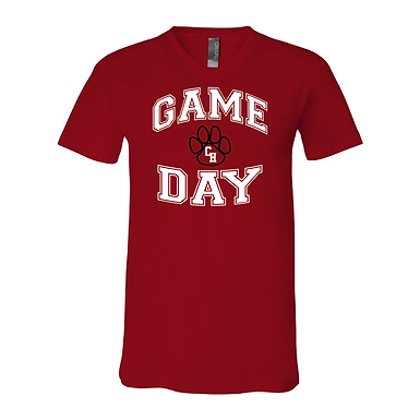 Ladies Game Day Red Short Sleeved Shirt