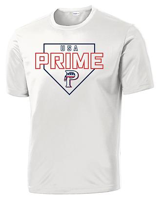USA PRIME- PLATE TEE- WHITE