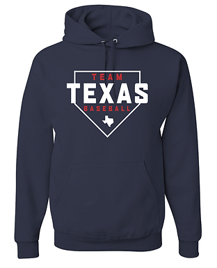 TEAM TEXAS HOME PLATE HOODY-NAVY