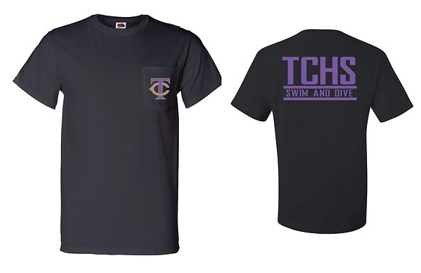 TCHS SWIM BLACK POCKET TEE