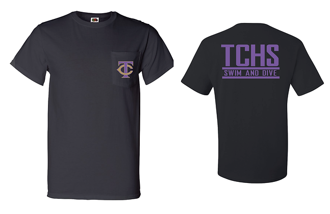 TCHS SWIM BLACK POCKET TEE