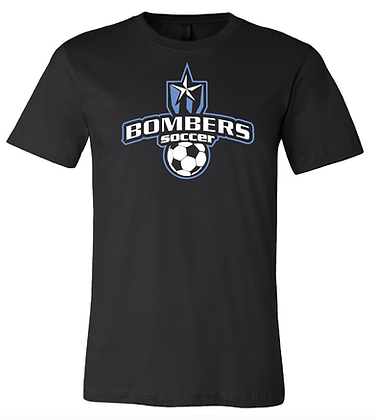 BOMBERS SOCCER- CLASSIC TEE- BLACK