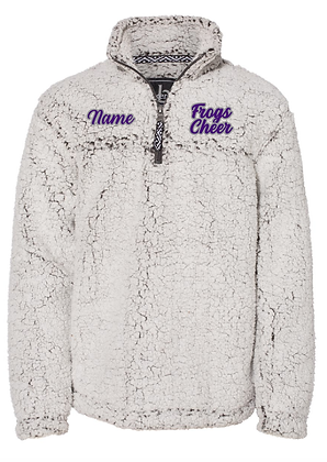 KYA CHEER SHERPA PULLOVER- FROGS