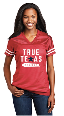 TTP: LADIES FOOTBALL JERSEY- RED